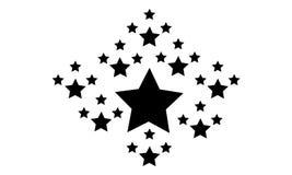 Style noir courant d'étoile de collection Photo libre de droits
