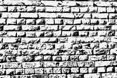 Style noir et blanc d'art de maçonnerie de mur Illustration Stock