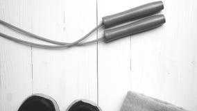 Style noir et blanc de couleur d'équipement de forme physique Image libre de droits