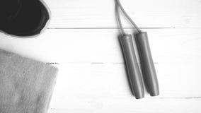 Style noir et blanc de couleur d'équipement de forme physique Photos stock
