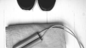 Style noir et blanc de couleur d'équipement de forme physique Photos libres de droits