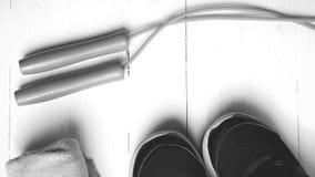 Style noir et blanc de couleur d'équipement de forme physique Image stock