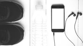 Style noir et blanc de couleur de ton d'équipement de forme physique Photo stock