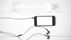 Style noir et blanc de couleur de ton d'équipement de forme physique Photo libre de droits