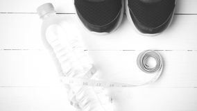 Style noir et blanc de couleur de ton d'équipement de forme physique Photographie stock