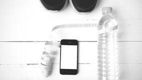 Style noir et blanc de couleur de ton d'équipement de forme physique Photos stock