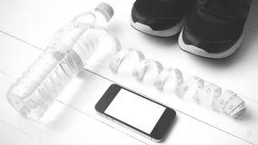 Style noir et blanc de couleur de ton d'équipement de forme physique Photos libres de droits