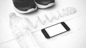 Style noir et blanc de couleur de ton d'équipement de forme physique Images libres de droits
