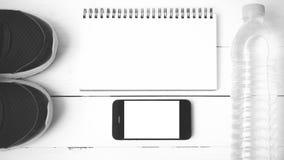 Style noir et blanc de couleur de ton d'équipement de forme physique Image stock