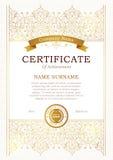 Style oriental de calibre de certificat de vecteur Photos libres de droits