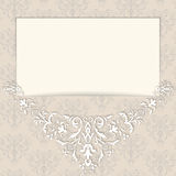 Style ornament border card. Vector ornate border in Victorian style. Gorgeous element for design, place for text. Ornamental seamless texture for wedding Royalty Free Stock Photo