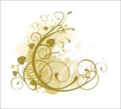 Style ornaments. With gold background Royalty Free Illustration