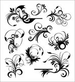 Style ornaments vector. Old stylish ornaments vector black Stock Illustration