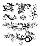 Style ornaments vector. Old stylish ornaments vector black Vector Illustration