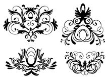 Style ornaments vector. Old stylish ornaments vector black Royalty Free Stock Image