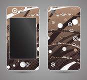 Style phone case. Print with abstract drops of dew on grass Royalty Free Stock Images