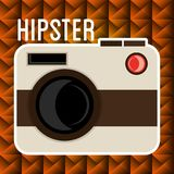 Style photographique de hippie d'appareil-photo illustration de vecteur