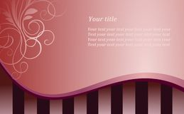 Style pink background. Modern style vector pink background with ornament Vector Illustration