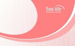 Style pink background. Modern style vector pink background with ornament Stock Photography