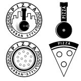 style pizza vector labels and elements set Stock Images