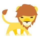 style plat de bande dessinée de lion illustration de vecteur