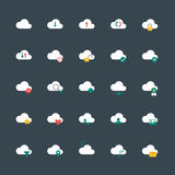 Style plat de calcul d'icônes de nuage illustration de vecteur