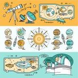 Style plat de cosmos scientifique de concept illustration de vecteur