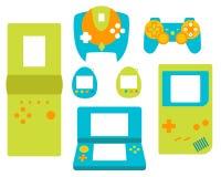 Style plat de gamepads de contrôleur de jeu vidéo Photo libre de droits