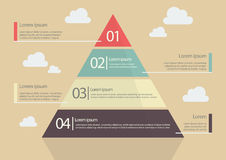Style plat Infographic de diagramme de pyramide Photos stock