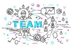 Style plat, ligne mince Art Design Ensemble de développement d'applications, de codage de site Web, d'information et de technolog Photographie stock libre de droits