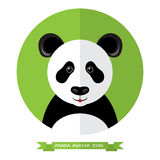 Style plat Panda Bear Avatar Icon Élément de conception Photographie stock