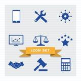 Style plat réglé d'icône d'affaires illustration stock