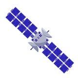 Style plat satellite Objets d'isolement de l'espace sur un fond blanc la science de l'astronautique Photographie stock
