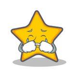 Style pleurant de bande dessinée de caractère d'étoile illustration stock