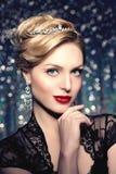 Style PO de Vogue de haute couture de Girl Beauty Woman de modèle de haute couture Images stock