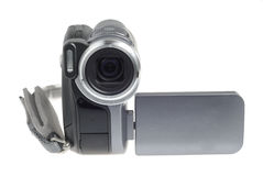 Style Portable Camera. Modern video camera isolated over white background Royalty Free Stock Photography