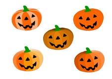 5 style of pumpkin Stock Photo