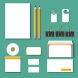 Style réglé de maquette d'identité d'entreprise illustration stock