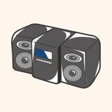 Style radio theme elements vector,eps. Vector illustration file Royalty Free Stock Photo
