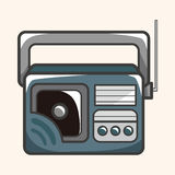 Style radio theme elements vector,eps. Vector illustration file Royalty Free Stock Photos