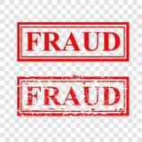 2 style red rubber stamp, fraud, at transparent effect background royalty free stock image