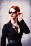 Style redhead women stock photos