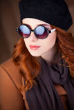 Style redhead women Royalty Free Stock Image