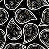 Style sans couture d'Asiatique de papier peint de Paisley Image stock