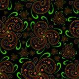 Style sans couture d'Asiatique de papier peint de Paisley Image libre de droits
