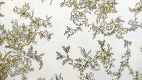 Style sans couture floral de vintage de fond de tissu de Brown de modèle de rétro dentelle Photographie stock libre de droits