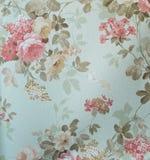 Style sans couture floral de vintage de fond de tissu de modèle de rétro dentelle Images libres de droits