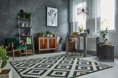Style scandinave en appartement image stock