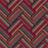 Style Seamless Color Knitted Pattern royalty free illustration