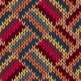 Style Seamless Color Knitted Pattern Stock Photo